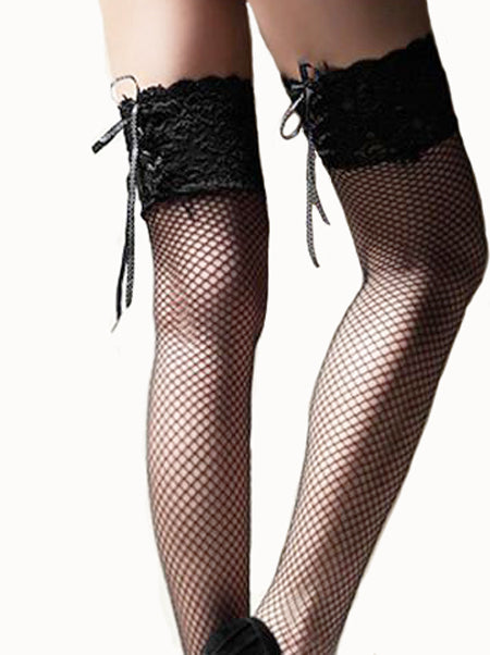 Ultra Sheer Thigh High Lace Stockings - WealFeel