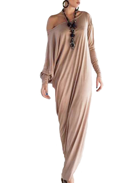 WealFeel Oversize One Shoulder Maxi Dress in Jersey - WealFeel