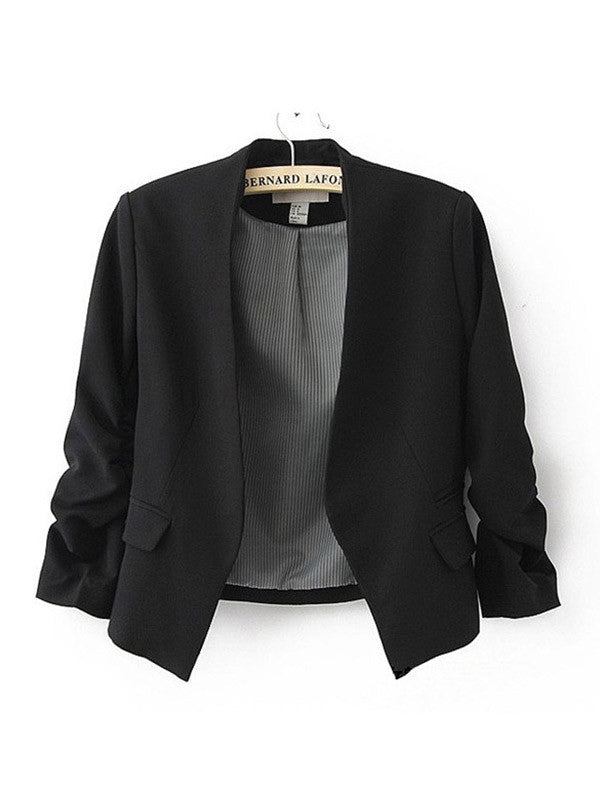 Women Casual Open Front  Jacket - WealFeel