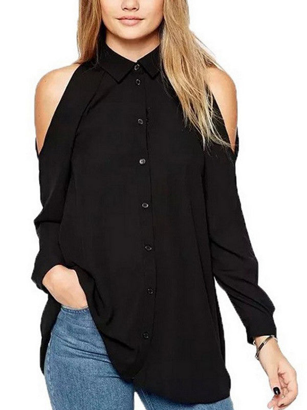 Off-the-shoulder Casual Blouse - WealFeel