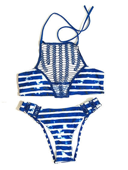 Macrame Breast Bikini Two Piece Suit - WealFeel