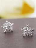 Christmas Snow Silver Earrings - WealFeel