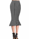 WealFeel Sexy Plaid Tight-fitting Flounced Bodycon Skirt - WealFeel