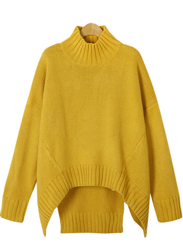 Wealfeel To Be Different Loose Irregular Cut Sweater - WealFeel