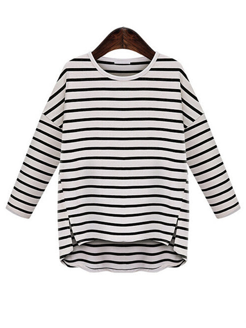 Basic Stripe Casual Top - WealFeel