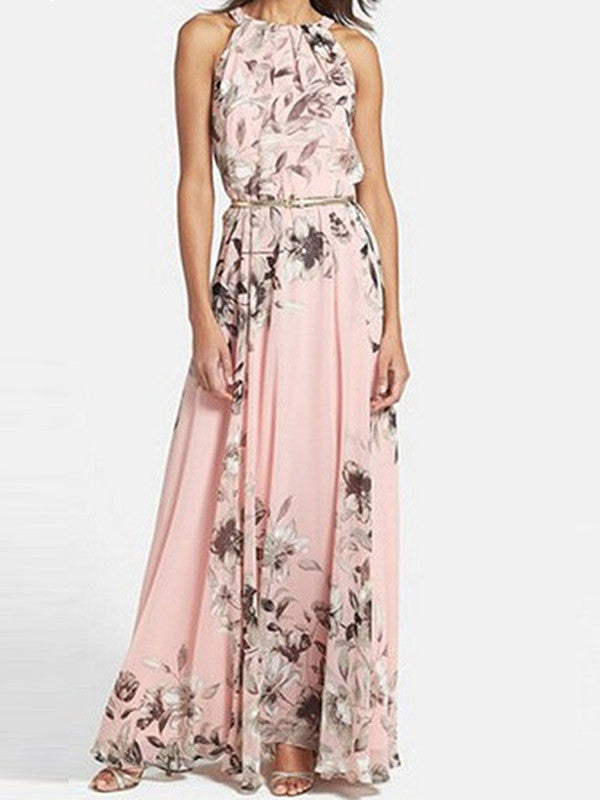 Go Long Pink Floral Dress - WealFeel