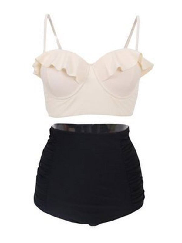 Let's Go Vintage High-waisted Bikini Sets - WealFeel