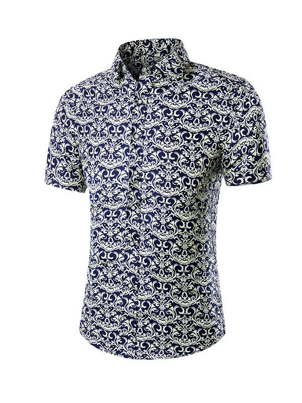 Men's Short Sleeve Printed Shirt - WealFeel