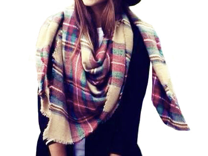 WealFeel Colorful Check Scarf - WealFeel