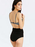 Line by Me High Waist Bikini Set - WealFeel