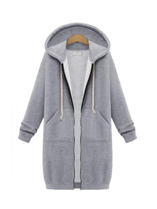 Winter Again Full Zipper Hooded Sweatshirt - WealFeel
