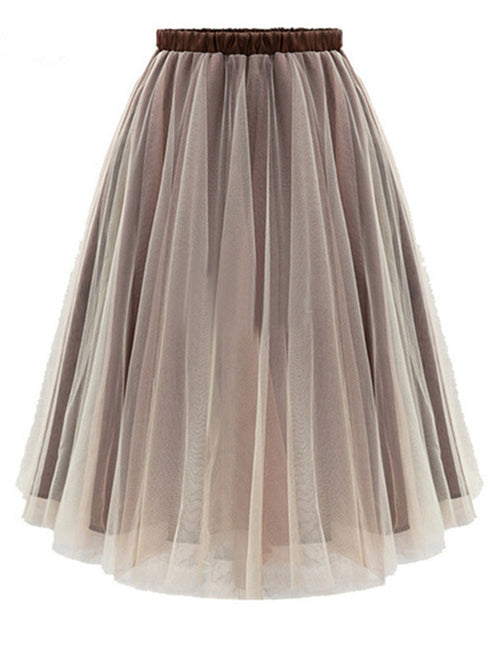 WealFeel Perfect Neutral Organza Bubble Skirt - WealFeel