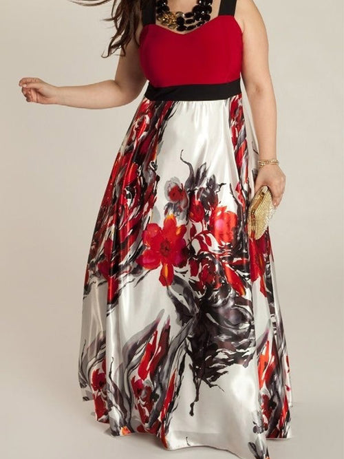 Plus Size Floral Maxi Dress - WealFeel