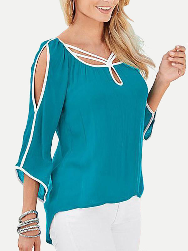 Women Long Sleeve Casual Loose Tops - WealFeel