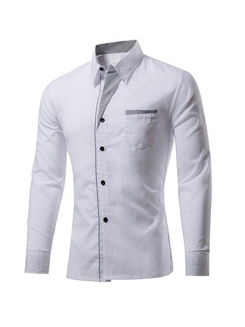 Men's Casual Long-sleeved Shirt - WealFeel