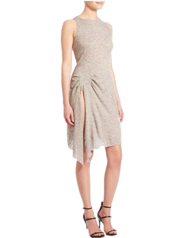 Asymmetric Sleeveless Side Split Dress - WealFeel