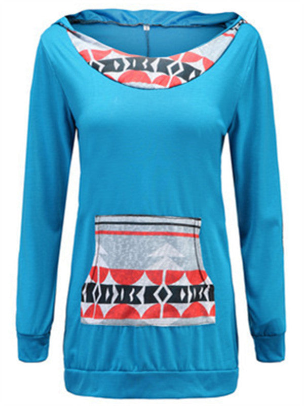 Digital Printed Kangaroo Pocket Sweatshirt Hoodie - WealFeel
