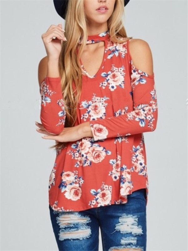 Hollow Out Loose Digital Printed Top - WealFeel
