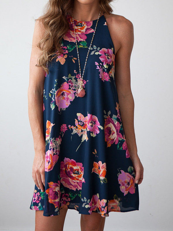 Floral Mini Beach Dress - WealFeel