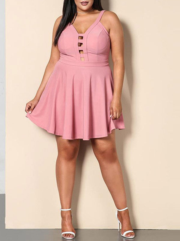 Plus Size Hollow Skirt Dress - WealFeel
