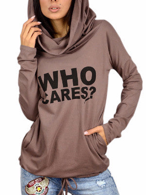 WealFeel Who Cares Hooded Sweatshirt - WealFeel