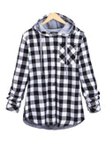 WealFeel Plaid to the Bone Button-Up Hooded Outerwear - WealFeel