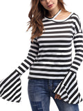 Women Horn Sleeve Casual Top - WealFeel