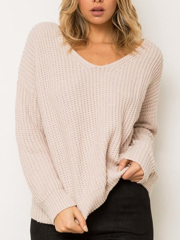 Let It V Cross Long Sweater - WealFeel