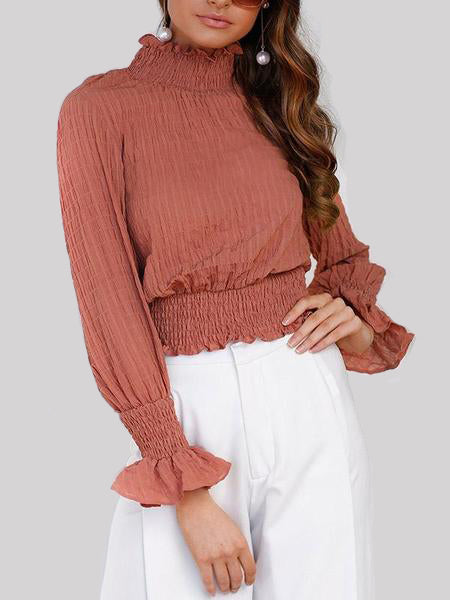 Stop Over Ruffle Turtle Neck Top - WealFeel