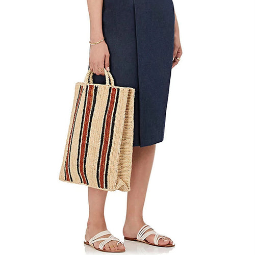 Women Straw Shopper Bag - WealFeel