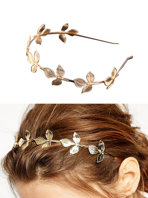 WealFeel Alloy Golden Leaf Headband - WealFeel