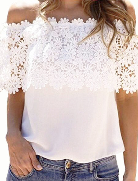Beautiful Love White Lace Top - WealFeel