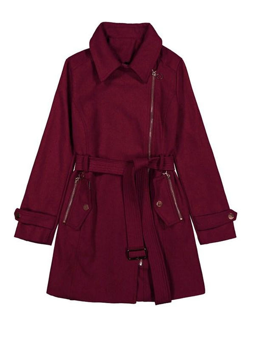 Back For Good Zip Coat With Belt - WealFeel