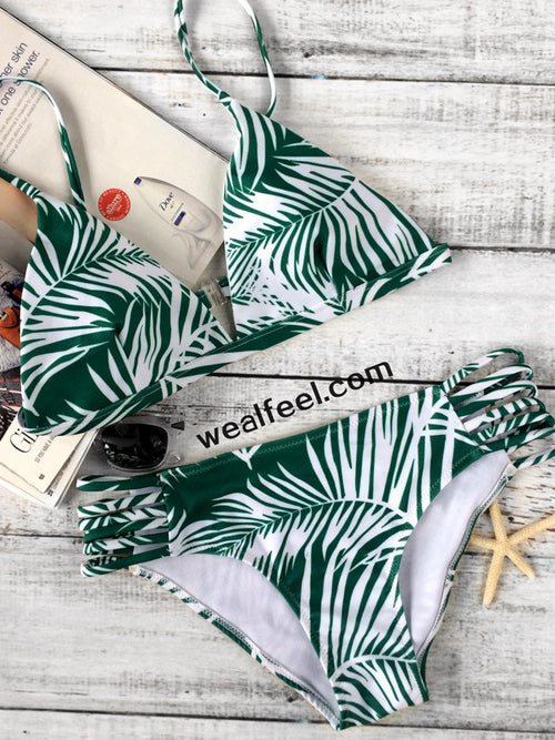 So Fabulous Halter Bikini Sets - WealFeel