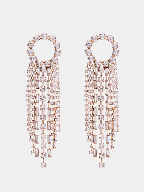 WealFeel Diamond Long Tassel Earrings - WealFeel