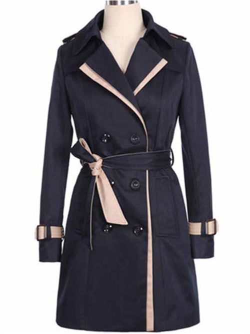 WealFeel Double breasted Waist Belt Casual Coat - WealFeel