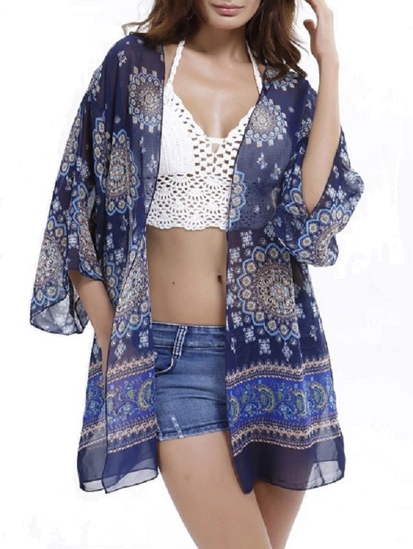 Floral Print Bikini Cover-up - WealFeel