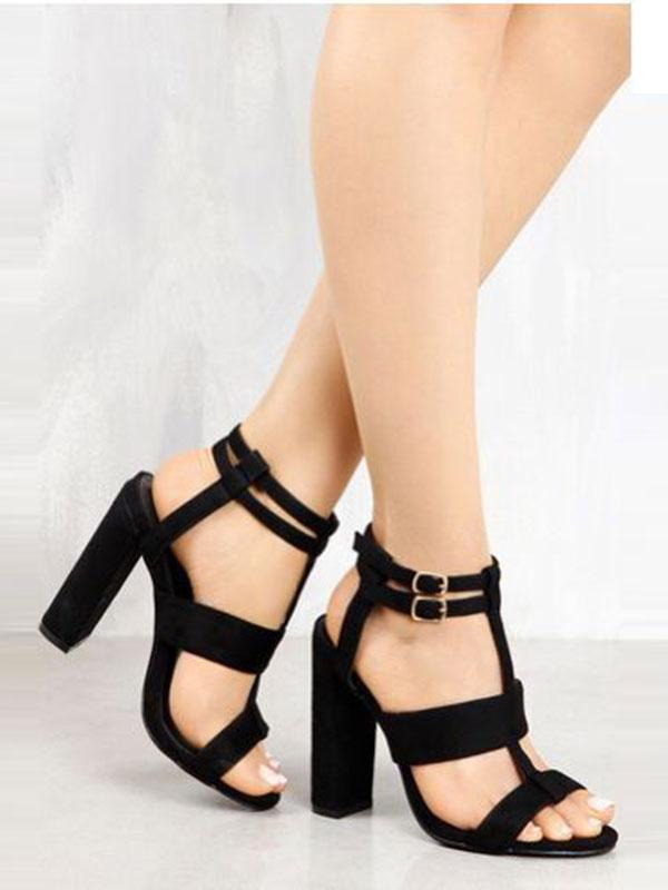 Good Day Open Toe Ankle Strap Sandal Heels - WealFeel