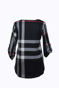 WealFeel Plaid to the Bone V Neck Shirt - WealFeel