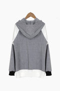 Grey Casual Hooded Outerwear - WealFeel