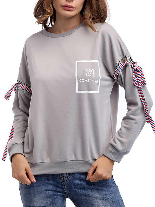 Women's Solid Color Casual Sweatshirt - WealFeel