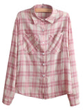 Plaid Casual Loose Button Down Shirt - WealFeel