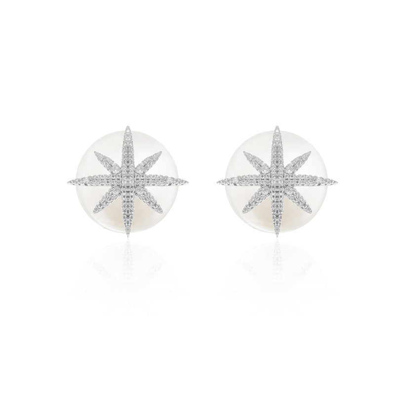 PLATED SYUD EARRINGS WITH PEARL - WealFeel
