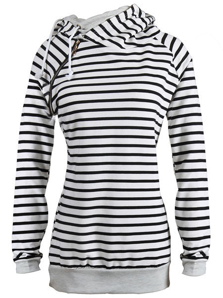 WealFeel Femal Striped Hoodie - WealFeel