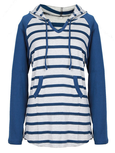 Stripe Time Hooded Sweatshirt - WealFeel