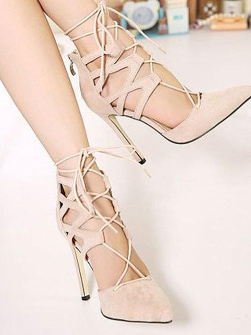 Waiting Here For You Criss Cross Strappy Heeled Sandal - WealFeel