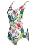 Deep V-neck Halter One-piece Swimsuit - WealFeel