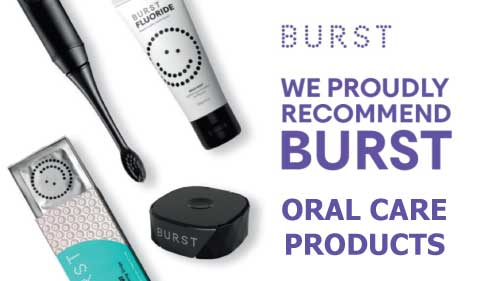 Burst oral care products