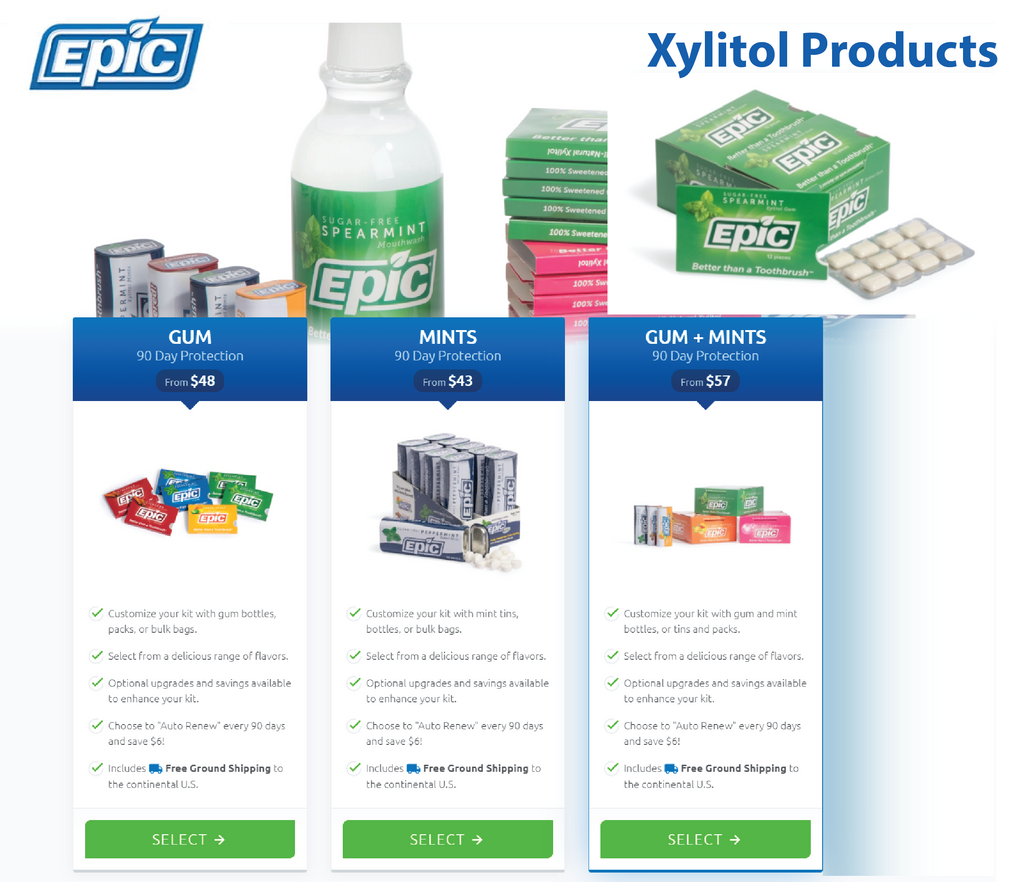 epic xylitol products
