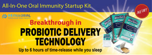 Oral Immunity Startup Kit contains Breathific Prebiotics plus probiotics oral strips